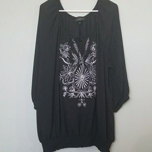 Lane bryant boho embroidered top 26/28